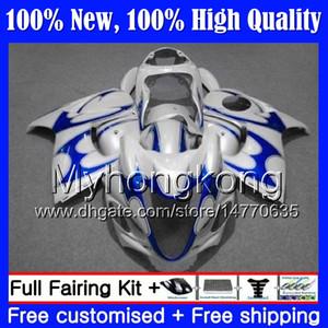 SUZUKI Pearl White Hayabusa Gövde GSXR1300 08 09 10 11 19MY43 GSX R1300 2008 2009 2010 2011 GSXR 1300 12 13 14 15 Fairing Karoser