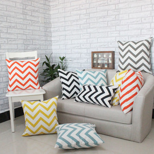 Home decor Car Bed Decorative Scandinavian Wavy Patterns Pillow Case Cushion Cover Decorative Pillows for Sofa
