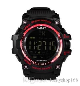 새로운 스포츠 스마트 시계 부저 소리 경보 스포츠 모니터 IP67 방수 구워진 칼로리 남성 시계 원격 카메라 시계 CASIMA EX16