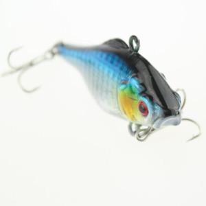 Blue color pesca artificial fake lures small vib fishing bait 7cm 12g plastic hard sinking fishing lure tools