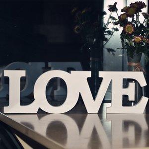 친환경 화이트 사랑 편지 나무 로맨틱 빈티지 독립 구조로 서있는 웨딩 홈 테이블 장식 결혼 사랑 웨딩 사진 소품