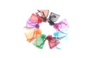 Hotcheap Organza 200 stücke 5x7cm Paket Taschen für jewerly Geschenk Süßigkeiten Hochzeit Schöne Lagerung Beutel Verpackungen Großhandel FSIMJ