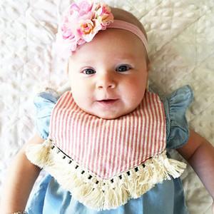 Neuer Multistyle Quaste Baby-Bandana Bib 31 * 22cm Baby-Kleinkind-Baumwoll Lunch Feeding Lätzchen Spucktücher Babyzubehör