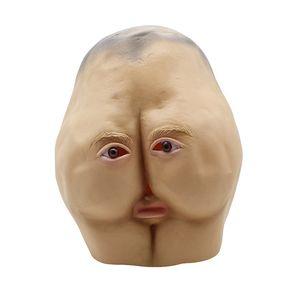 Envío Gratis 2017 Recién Llegado de Crear Diseño Hallowen Divertido Cabeza Llena Máscara Latex Al Por Mayor de Halloween Mascarilla Broma Payaso Máscara Cosplay Apoyos