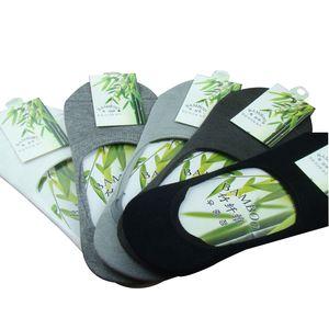 Мужские Носки Тапочки Лето Бамбуковое Волокно Non-Slip Невидимые Носки Лодки Мужской Моды Низкие Носки 10 шт. = 5 пар / лот оптом