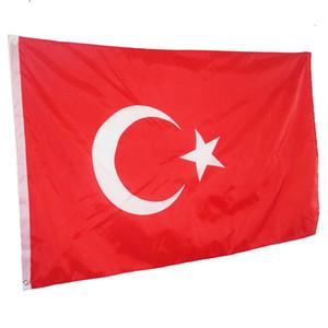 90 x 150 cm Bandeira Turquia Grande Bandeira-3FT X 5FT Pendurado Bandeiras Nacionais Turquia Casa Turco Outdood Quintal Decoração