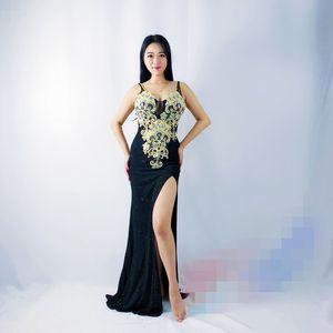 Belly  eastern baladi costumes Bellydance wings dancing uniforms Oriental dance wear costumes dress robe skirt bra