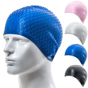 HZYEYO New 7 cores Natação Caps Mulheres e Homens Universal Silicone Swim Cap Waterproof Orelha Cabelo Proteja Piscina M002