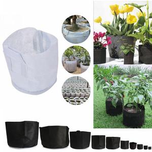 Non tissé grandissent le sac de racine de sac de sac cultivent des pots de jardinage en plein air plantant des sacs de culture sacs AAA528