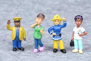 Nuevo diseño de 12 PC / sistema Fireman Sam Juguetes Figuras de Acción 3 -6cm linda del PVC muñecas para los niños de Navidad Fireman Sam regalo juguetes para los niños
