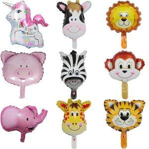 50 pçs / lote Mini Animal Foil Balões Crianças Brinquedo Clássico Balão de Ar Inflável Festa de Aniversário Decoratiy Chuveiro de Casamento Suprimentos DIY