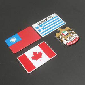 Creative Car Motorcycle Metal Turkey Emiratos Árabes Unidos Grecia Canadá Bandera Nacional Hood Trunk Fender Fuel Tank Emblem Sticker Calcomanía