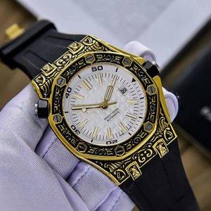 2018 прекрасные мужские часы (автоматически вращающаяся Внутренняя тень) улучшенное зеркало из минерального стекла. Импортная Автоматика. Нержавеющая сталь 316L
