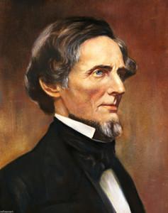 Jefferson Davis Präsident der Konföderierten Giclee Handmade HD Printed Portrait Ölgemälde auf Leinwand Verschiedene Größen / Rahmenoptionen