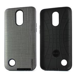 Funda de teléfono móvil híbrida de doble capa para PC + TPU para Huawei P20 Lite para Huawei Y6 Y7 Y9 2018 contraportada cepillada D