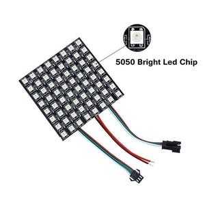 لوحة LED بالألوان الكاملة RGB مصفوفة وحدة SMD 5050 WS2812B 8 * 8/8 * 32/16 * 16 بكسل 5V
