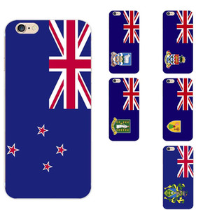 Pitcairn / Turks- und Caicos / Virgin / Cayman Islands / Falkland Island / New Zealand National Flag Theme TPU Phone Cases für iPhone 6/6 s / 7 / 117S / 8 / XR
