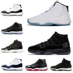 Venda Por Atacado Novo Tênis 11s Cap e vestido Homens Mulheres Basquete Sapatos Sneaker Gym Red Concord 45 Criado Legenda Heréus Sapatos Esportivos