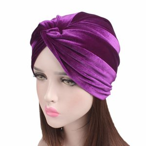 neue Winter Frauen Luxus weichen Samt Twist Turban Headwrap Frauen geknotet Stirnband Chemo Cap Turbante Haarschmuck