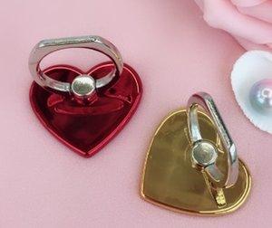MODA soquete inquietação criativa coração do amor dado forma Suporte para telefone celular Phone Ring Suporte Moblie fácil de segurar telefone