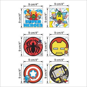 % 6 pçs / lote filme dos desenhos animados herói Vingadores Interruptor Etiqueta crianças quarto quarto DIY adesivos de parede home decor à prova d 'água pequena etiqueta
