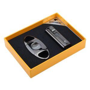 Новый набор для переносных сигар ARRIVAL COHIBA с зажигалкой JET и классическим ножом из нержавеющей стали - хороший подарок для друга