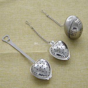 3 نمط الشاي ملعقة القلب infuser شكل قلب الفولاذ infuser الشاي ملعقة تصفية 304 المقاوم للصدأ مصفاة أدوات WX9-416