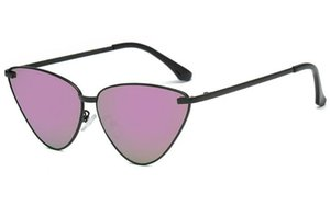Ретро кошка глаз солнцезащитные очки мода улица стрелять из нержавеющей стали в рамке океан ясный линз дикие солнцезащитные очки наружные очки 7 цветов