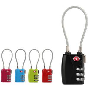 Nouveau 3 Combinaison numérique Cadenas verrouillage bagages Valise code Sac Voyage verrouillage en alliage de zinc Serrure à combinaison anti-vol Padlock