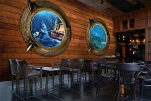 Seaside Ocean Treasure Treasure Board Fondos de Escritorio 3d 3d a gran escala Mural ktv Hotel Restaurant Theme Wallpaper