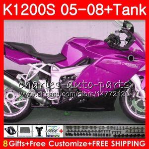 Brillo aumentó cuerpo para OEM K1200S K 1200 S 05 10 K1200 S 05 06 07 08 09 10 103HM.57 K 1200S K1200S 2005 2006 2007 2008 2009 2010 carenado kit
