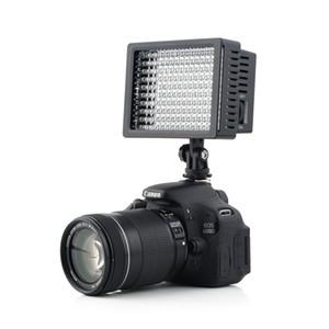 1 مجموعة كاميرا hd 160 led فيديو ضوء مصباح 1280LM 5600 كيلو متر / 3200 كيلو عكس لكانون لنيكون كاميرا فيديو كاميرا