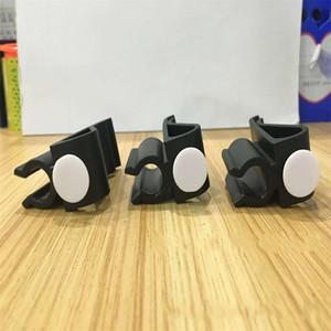 Clip de la bolsa de golf Barra de empuje Barra de la barra Barra Clips fijos Putter Soporte de la abrazadera Negro Color puro Durable Plástico 1fh bb