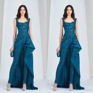 Tony Ward 2019 комбинезон арабских вечерних платьев Scoop Dece Bookuit Plus Size Sceded Prom Prom Plans Full кружевные бусины формальное платье для вечеринок