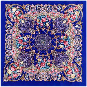 100x100 cm Dimi Ipek Eşarp başörtüsü gül geometri desen Dekoratif Şal Türban Büyük Kare eşarp Kadınlar fular bayan Atkılar C18110801