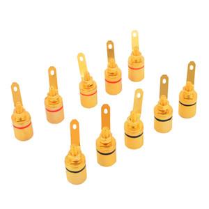 10 шт. позолоченный аудио разъем привязка пост усилитель динамик кабельный терминал банановый разъем для 4 мм Диаметр банановые вилки