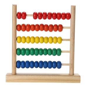 2018 Crianças Crianças Brinquedo De Madeira De Madeira Pequeno Arco Íris Abacus Bead Matemática Brinquedo Para A Aprendizagem Precoce De Madeira Brinquedo Do Aniversário Montessori