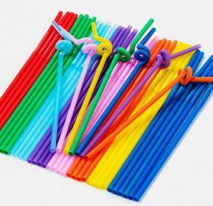 Fiesta de barra plástica multicolora de los PP de la categoría alimenticia que bebe la decoración flexible flexible del cumpleaños del día de tarjeta del día de San Valentín