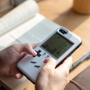 Casos de telefone jogo tetris retro jogo consola de jogos capa de proteção à prova de choque case para iphone x 8 7 6 6 s plus com pacote de varejo