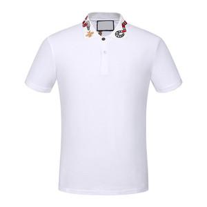 Alta qualità brand new Luxury designer uomo Casual polo shirt magliette medusa mens polos High street ricamo serpente ape polo 3XL