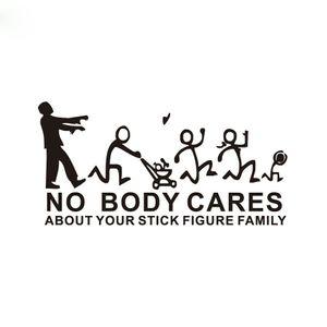 22 * 10cm Zommin Personne ne se soucie de votre stick sticker autocollant de voiture familiale CA-0041