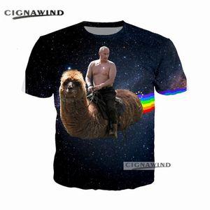 Nouveau t-shirt homme / femme rigolo Alpaga Hot RUSSIE Putin Rainbow 3D imprimé t-shirts Harajuku style tshirt streetwear été tops