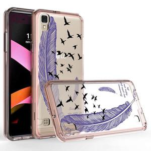 Alcatel Idol 5 için A50 A5 5085C Akrilik Şeffaf Renkli Koruyucu kılıf Samsung Galaxy Not 8 S8 S8 artı TPU + PC vaka
