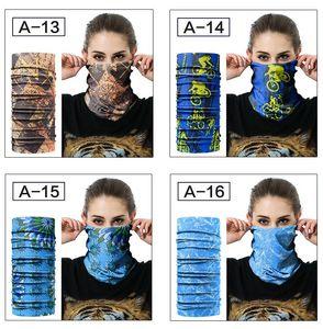 Camouflage Skiing Headwear Mask Maschera Cycling Neckwear Tubolare Polar Reversible Bandana Sport all'aperto Turban Magic Sciarpes 20 stili