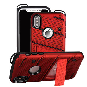 For Iphone X XS Max XR 5 6 7 8 Plus Kickstand Hybrid Cell Phone Cases Heavy Duty Tough Armor Shockproof Mobile Covers