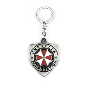 Resident Evil 2 Colors Alloy Keychain Umbrella Corporation Logo shield shape Hoder For Fans Unique Movie Jewelry Accessories