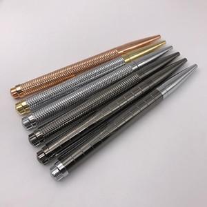 Toptan Satış - 1pc / lot Lüks Oyma Tasarım RX Tükenmez Kalem Tam Metal Döner Tip Siyah Mürekkep Tükenmez Kalem İş Ofis Malzemeleri Chritmas Gif