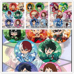 6pcs set 58MM Anime My Hero Academia Boku no Hero Bakugou Katsuki Izuku Badge Brooch Icons Backpack Pins Collect