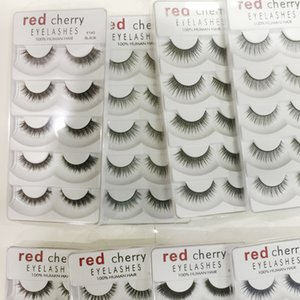 2018 Red Cherry Falsche Wimpern 5 Paare / pack 8 Styles natürliche lange Professionelle Make-up Große Augen High Quality