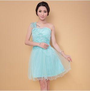 Sweet Memory 7 colores violeta un hombro dama de honor vestido de verde azul SW180912 champán rosa rojos vestidos cortos de dama de honor